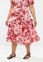 AMANDA LAIRD CHERRY - Plus ibundwe skirt - pink & red