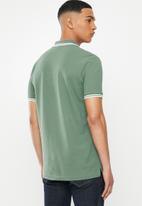 G-Star RAW - Dunda slim stripe short sleeve polo - green