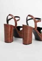 MANGO - Elton heel - brown