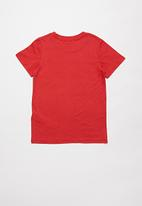 Cotton On - Short sleeve license1 tee - lucky red