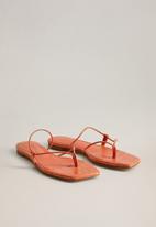 MANGO - Flipy sandal - light pastel orange