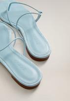 MANGO - Flipy sandal - light pastel blue