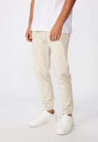 Cotton On - Drake cuffed pant - ecru