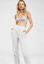Cotton On - High waisted trackpant - silver marle