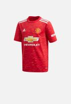 adidas Performance - MUFC home short sleeve jersey top - red