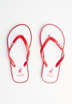 POLO - Girls amber outsole flip flop - red & white