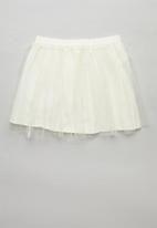 POP CANDY - Mesh skirt - cream