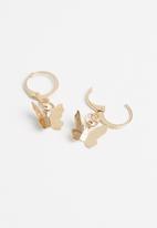 Superbalist - Butterfly hoop earrings - gold