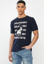 POLO - Sport Gary stack logo tee - navy