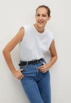 MANGO - Hombro7 T-shirt - white