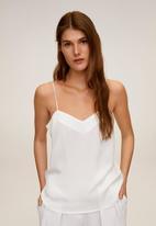 MANGO - Cumin top - white