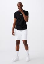 Factorie - Curved graphic T-shirt - black