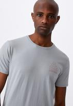 Factorie - Curved graphic T-shirt - grey