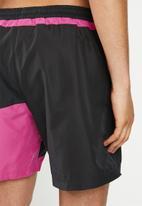 Reebok - Classic swim shorts - black & pink