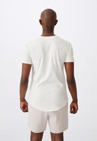 Factorie - Curved graphic T-shirt - ivory