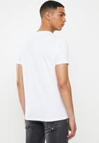 Replay - White foil print tee - white