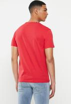 Replay - Red logo tee - red