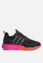 adidas Originals - ZX 2K Flux - core black / grey six / shock pink