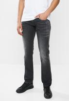 Replay - Slim anbass black washed denim - black