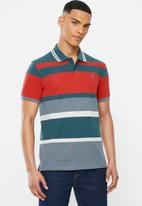 POLO - Jule stripe custom fit golfer - multi