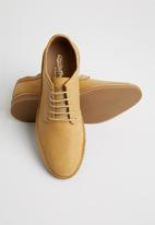 Grasshoppers - Lewis leather lace-up - whiskey