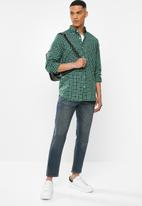 Nautica - Tidal plaid shirt - green & white
