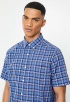 Nautica - Delft print shirt - blue & white