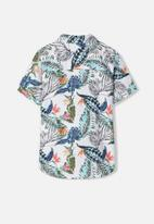 name it - Hornbill short sleeve shirt - bright white