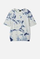 name it - Alifax tie dye sweat top - vintage indigo