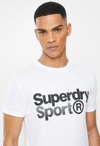 Superdry. - Core sport graphic tee - white