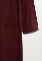 MANGO - Cardigan Azalee - burgundy