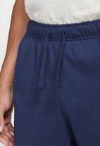Nike - Nike sportswear club shorts - midnight navy & white