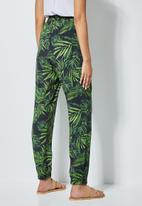 Superbalist - Easy pull on pants - green & black