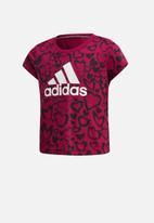 adidas Originals - Girls mh short sleeve graphic tee - multi