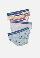 Cotton On - Boys 3 pack briefs - out of this world