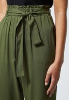 Superbalist - Soft paperbag trousers - olive