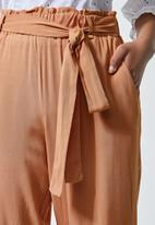 Superbalist - Soft paperbag trousers - neutral