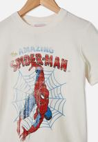 Cotton On - Co-lab short sleeve tee - Spiderman retro white