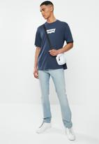 Levi's® - Short sleeve graphic brand  T-shirt- colony blue