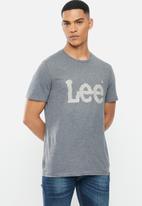 Lee  - Classic logo tee - dark grey
