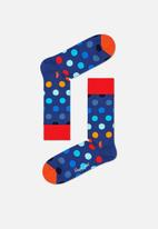 Happy Socks - Big dot socks - blue multi dots