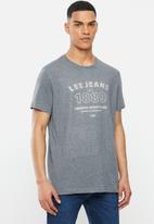 Lee  - Premium denim tee - dark grey