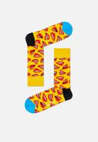 Happy Socks - Lips socks - yellow