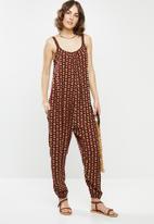 edit - Oversized woven jumpsuit - rust