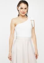 MILLA - Asymmetric bodysuit - white