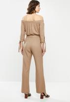 edit - Off the shoulder jumpsuit - brown