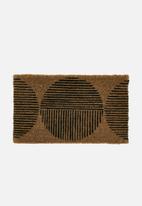 Linen House - Spot door mat - neutral & black