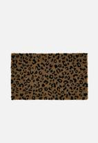 Linen House - Wilder door mat - neutral & black