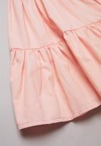 POP CANDY - Combo tiered dress -pink & white