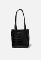 Rubi - Ella wristlet bag - black texture